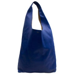Celine Blue Soft Leather Shoulder Tote