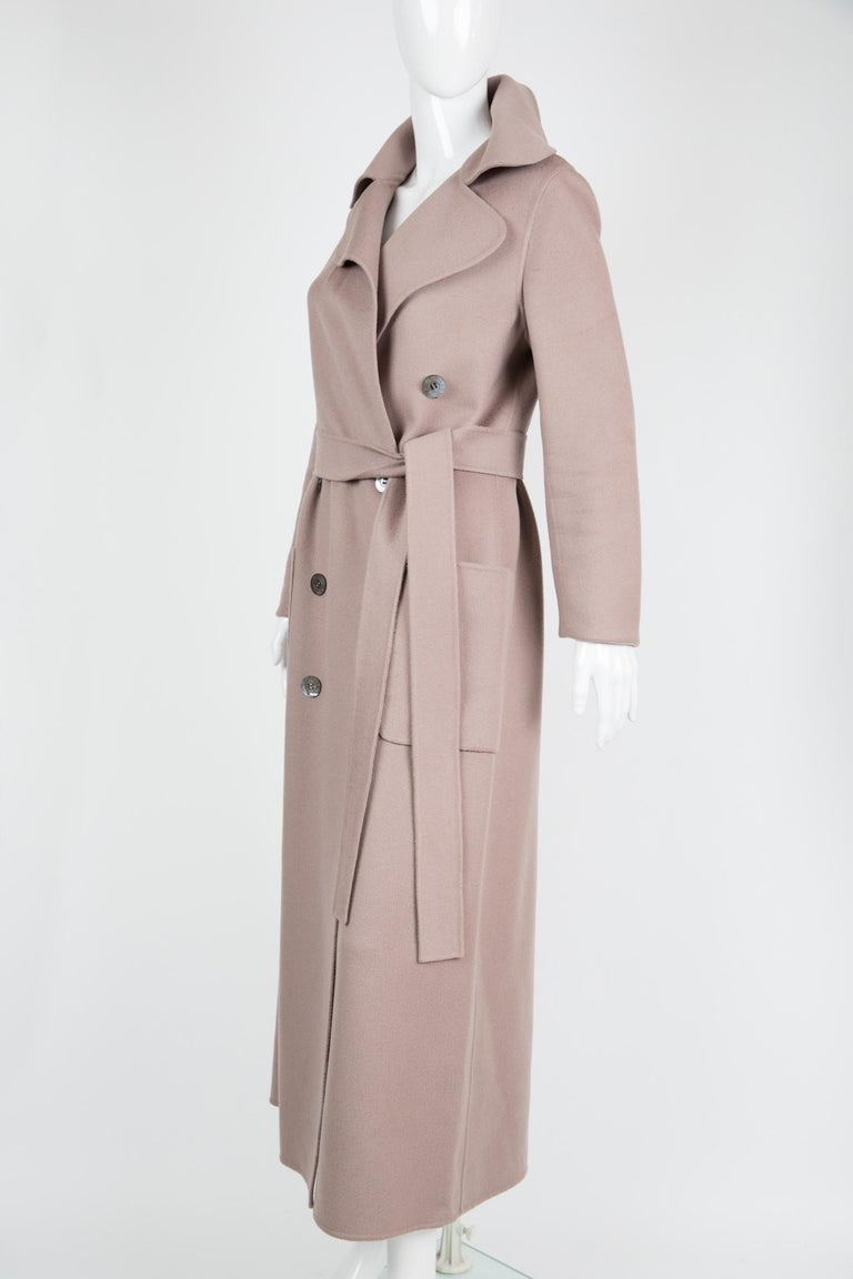 Beige Celine Blush Cashmere Coat For Sale