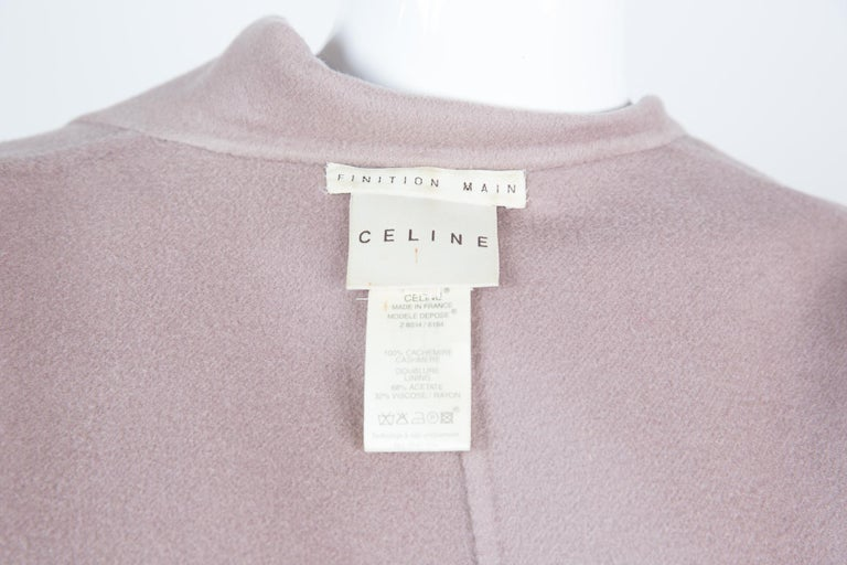 Celine Blush Cashmere Coat For Sale 1