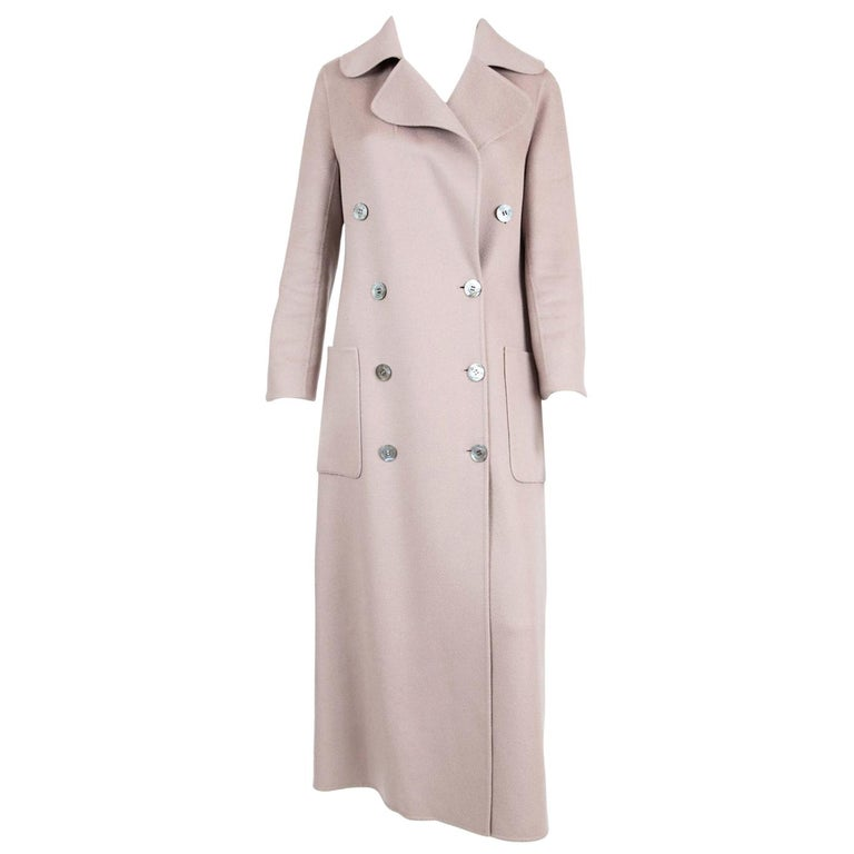 Celine Blush Cashmere Coat For Sale