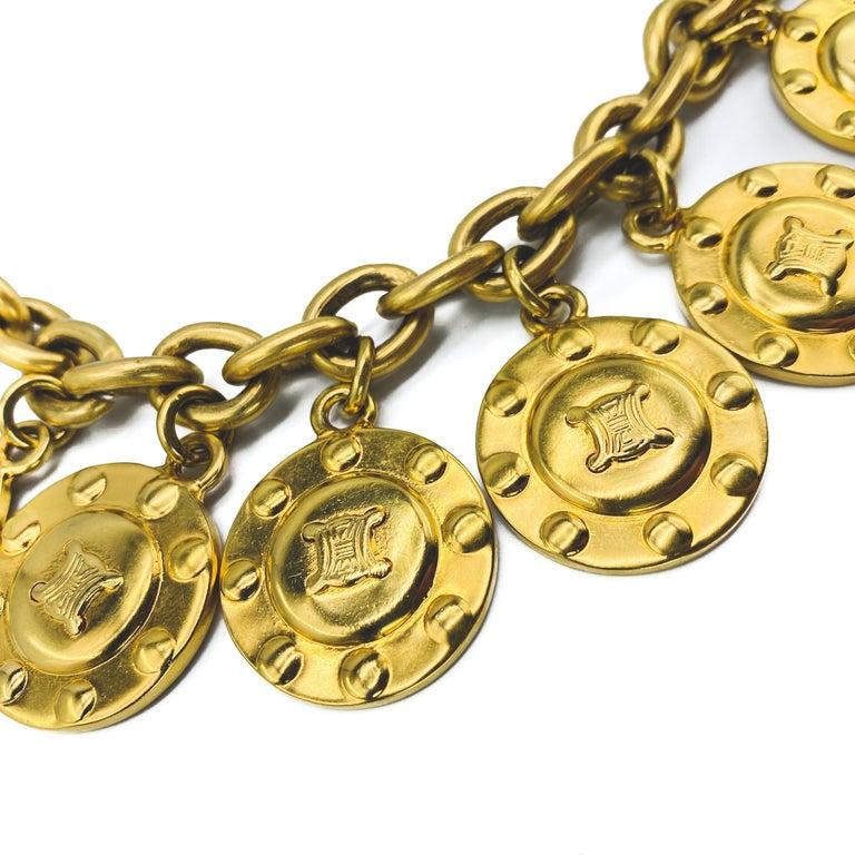Women's or Men's CELINE Bracelet Vintage 1980s  For Sale