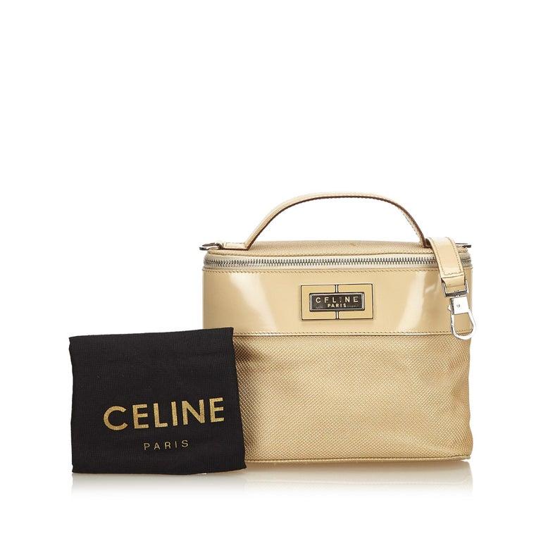 Celine Brown Chemical Fiber Vanity Bag For Sale 5