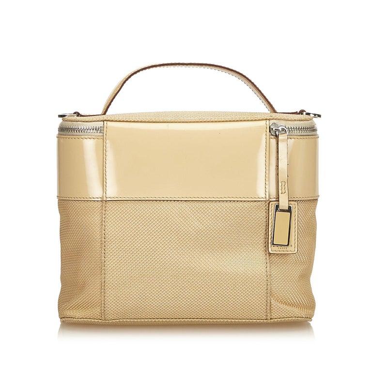 Beige Celine Brown Chemical Fiber Vanity Bag For Sale
