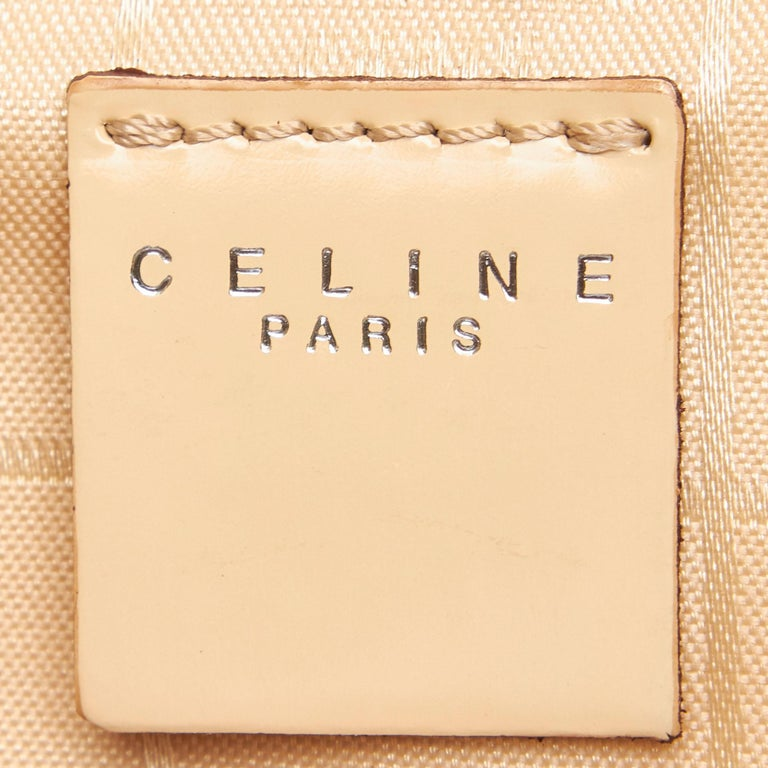 Celine Brown Chemical Fiber Vanity Bag For Sale 1