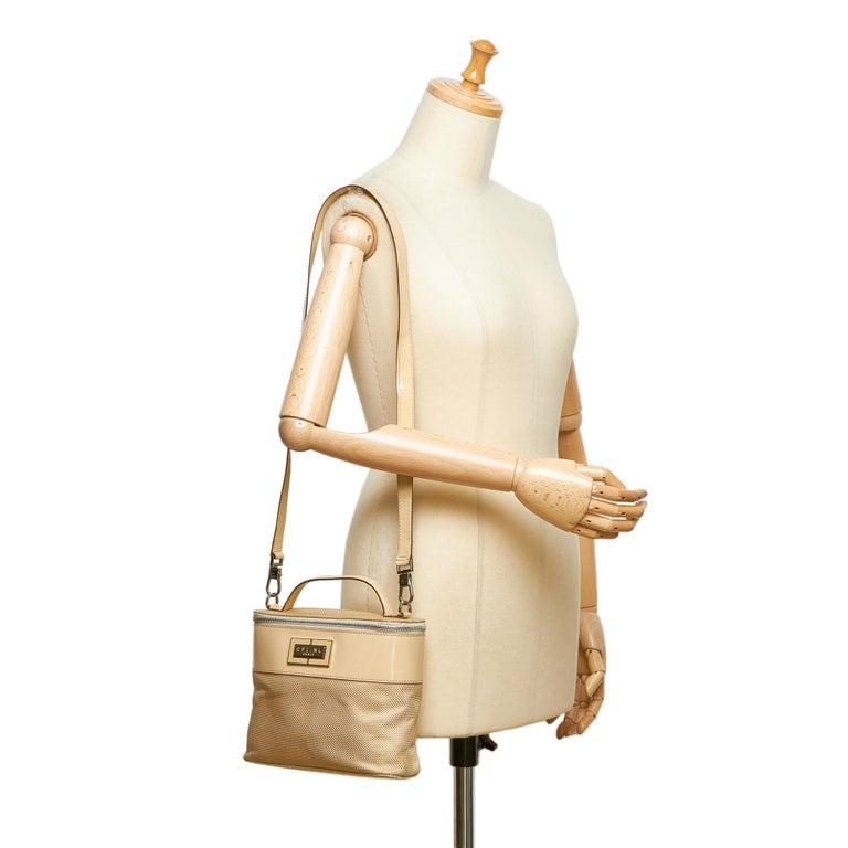 Celine Brown Chemical Fiber Vanity Bag For Sale 4