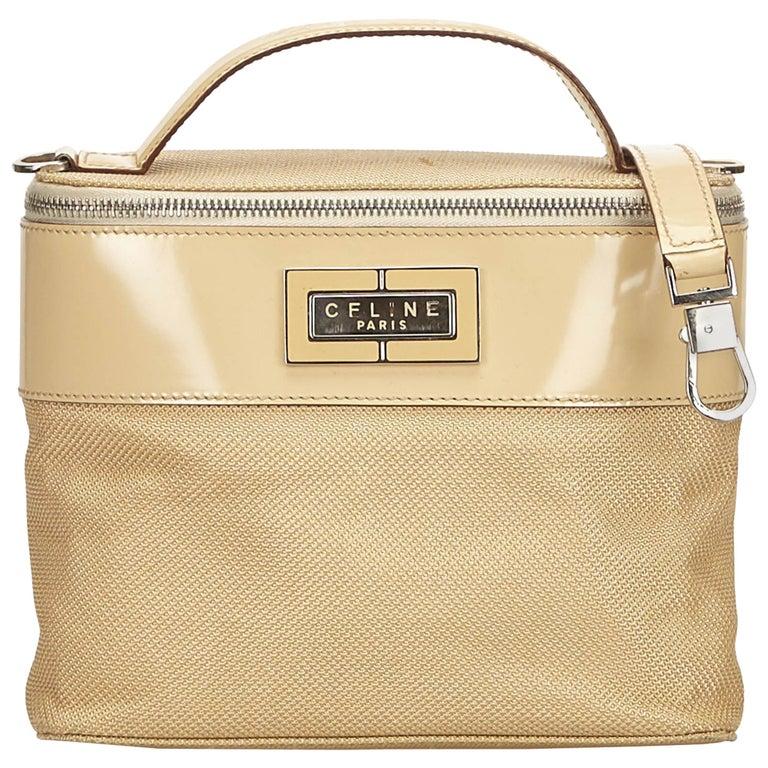 Celine Brown Chemical Fiber Vanity Bag For Sale