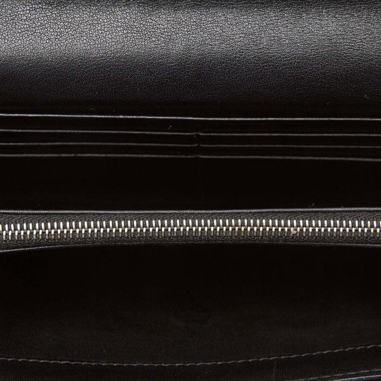 Women's Celine Brown Dark Brown Jacquard Fabric Macadam Long Wallet France For Sale