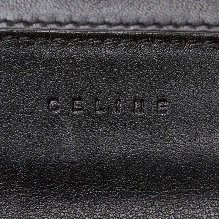 Celine Brown Dark Brown Jacquard Fabric Macadam Long Wallet France For Sale 1
