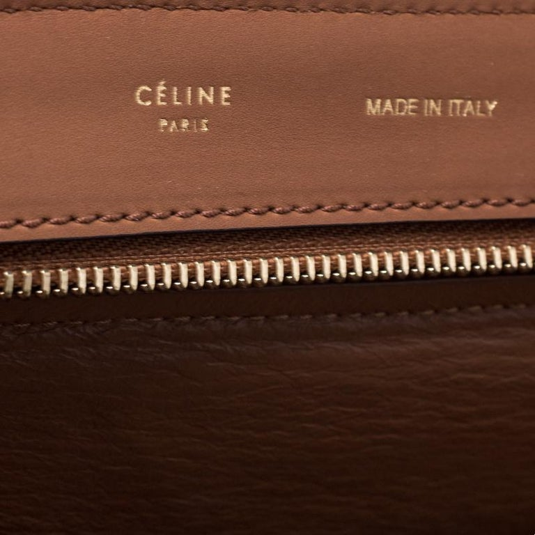 Celine Brown Leather and Suede Medium Trapeze Tote 5