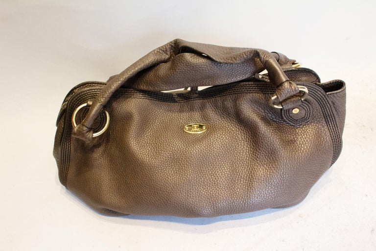 Celine Brown Leather Bag In Good Condition For Sale In London, GB