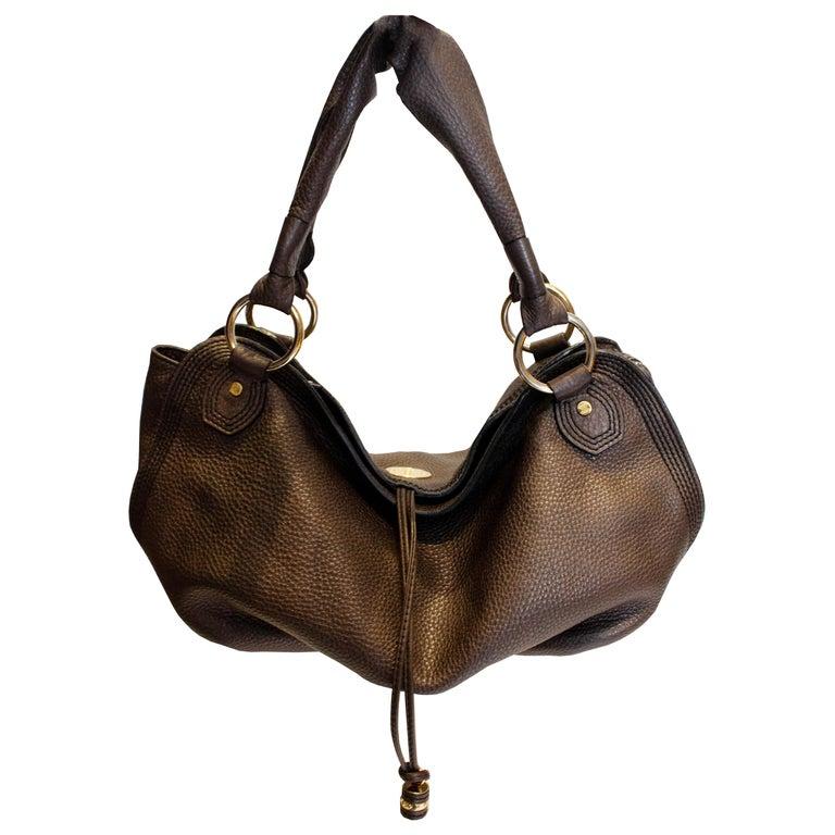 Celine Brown Leather Bag For Sale