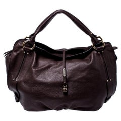 Celine Brown Leather Bittersweet Hobo