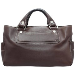 Celine Brown Leather Handbag