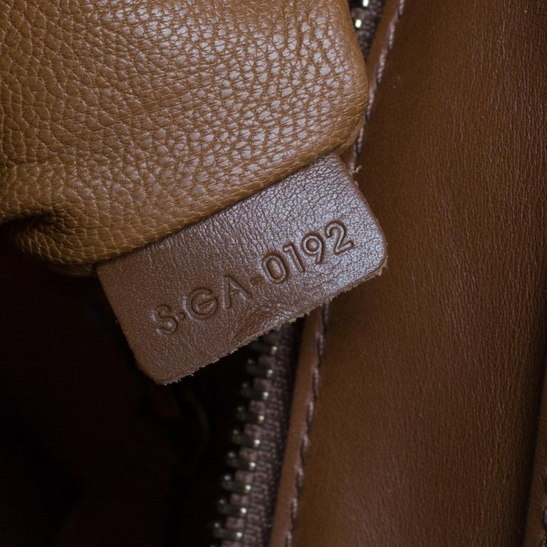 Celine Brown Leather Mini Luggage Tote For Sale 8