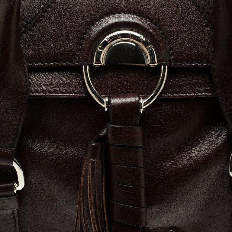 3ee6529755bd Céline Brown Leather Tassel Satchel For Sale at 1stdibs