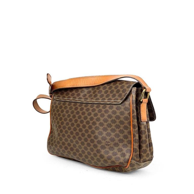 Women's Celine Brown Macadam Celine Crossbody Bag For Sale