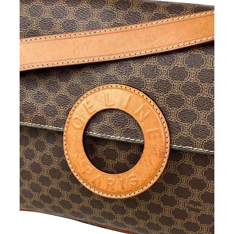 Celine Brown Macadam Celine Crossbody Bag For Sale 1