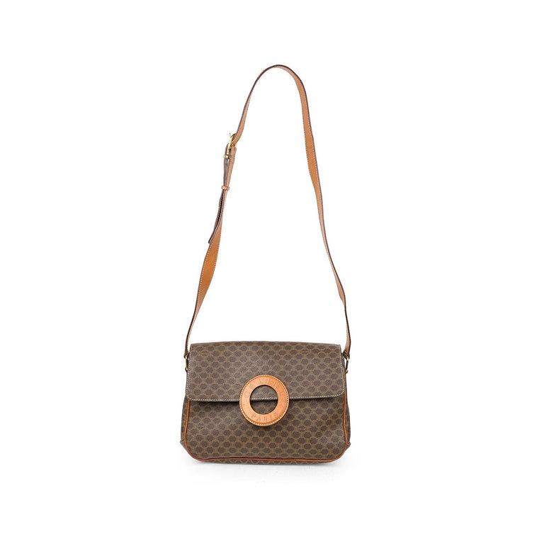 Celine Brown Macadam Celine Crossbody Bag For Sale 2