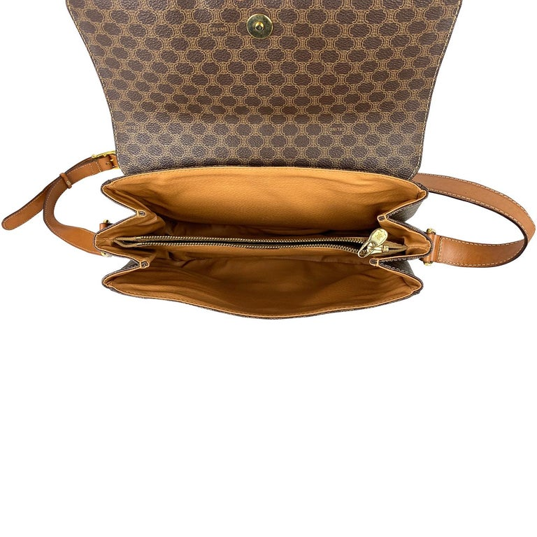 Celine Brown Macadam Celine Crossbody Bag For Sale 5