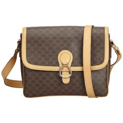 Celine Brown Macadam Crossbody Bag