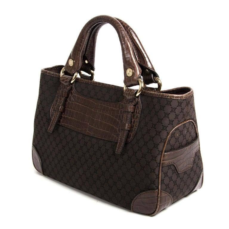 Black Céline Brown Monogram Boogie Bag For Sale