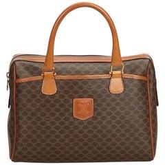 Celine Brown PVC Plastic Macadam Handbag France