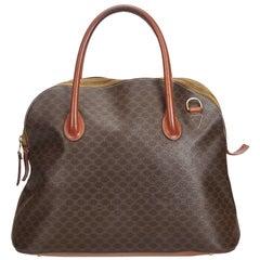 Celine Brown PVC Plastic Macadam Handbag Italy