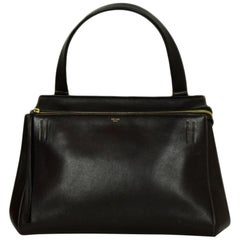 Celine Brown Smooth Calfskin Leather Medium Edge Shoulder Bag