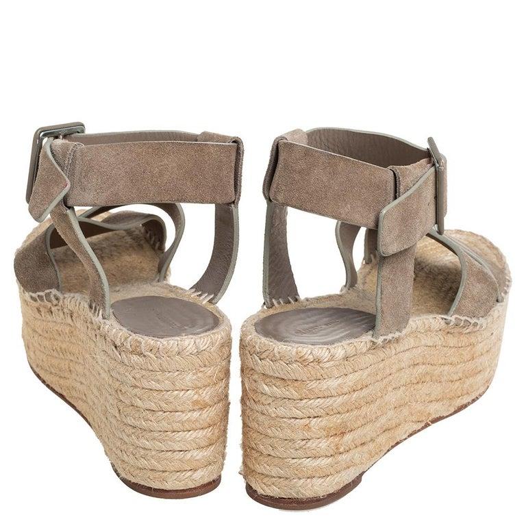 Women's Celine Brown Suede Criss Cross Sandals Size 39 For Sale