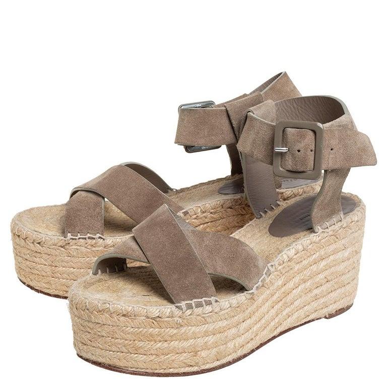 Celine Brown Suede Criss Cross Sandals Size 39 For Sale 1