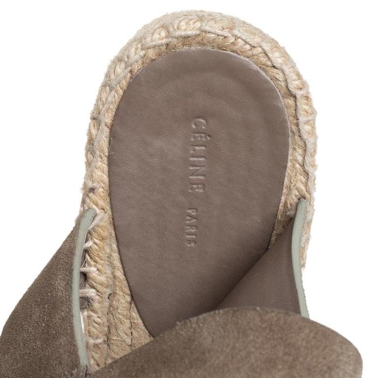 Celine Brown Suede Criss Cross Sandals Size 39 For Sale 2