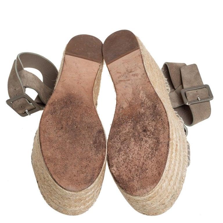 Celine Brown Suede Criss Cross Sandals Size 39 For Sale 3