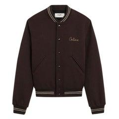 Celine Brown Wool Teddy College Jacket - Size US 0-2