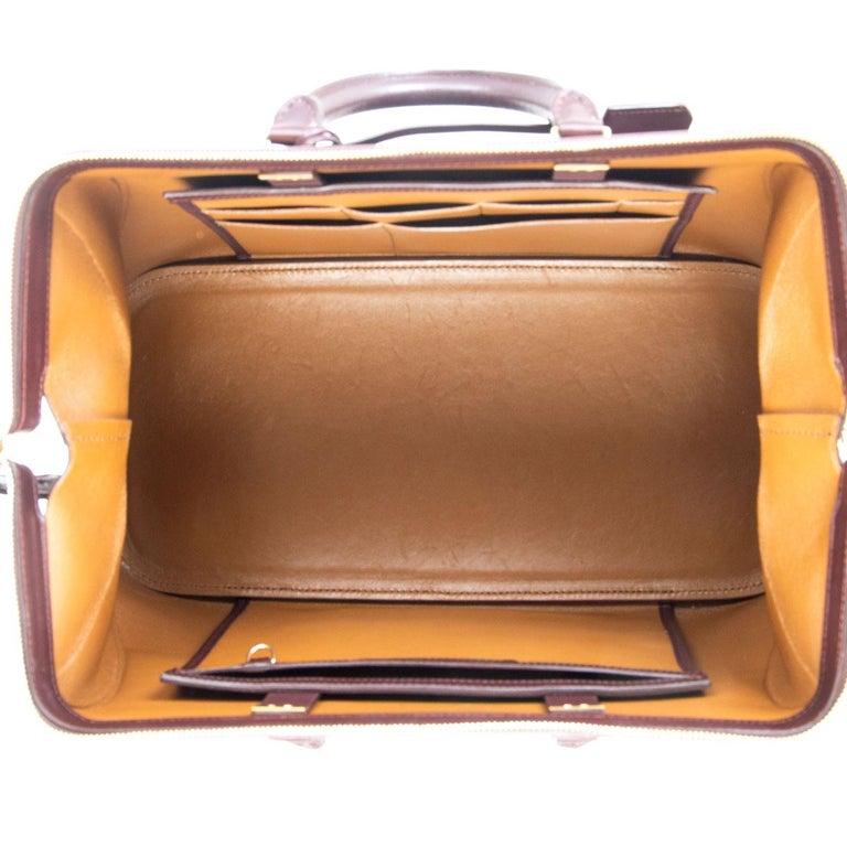 Women's CELINE burgundy leather FRAME DOCTOR SMALL Bag For Sale