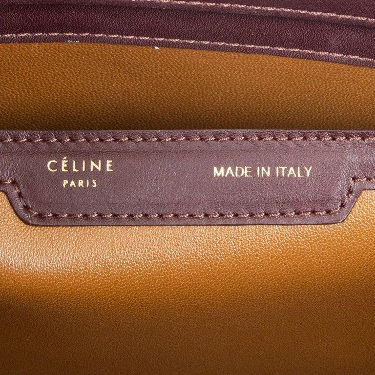 CELINE burgundy leather FRAME DOCTOR SMALL Bag For Sale 1