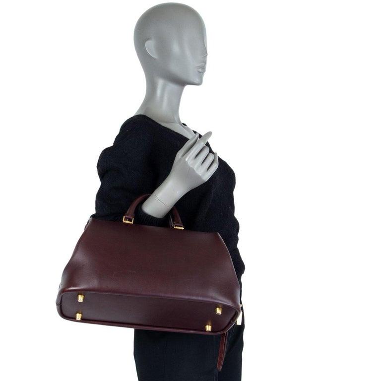 CELINE burgundy leather FRAME DOCTOR SMALL Bag For Sale 2