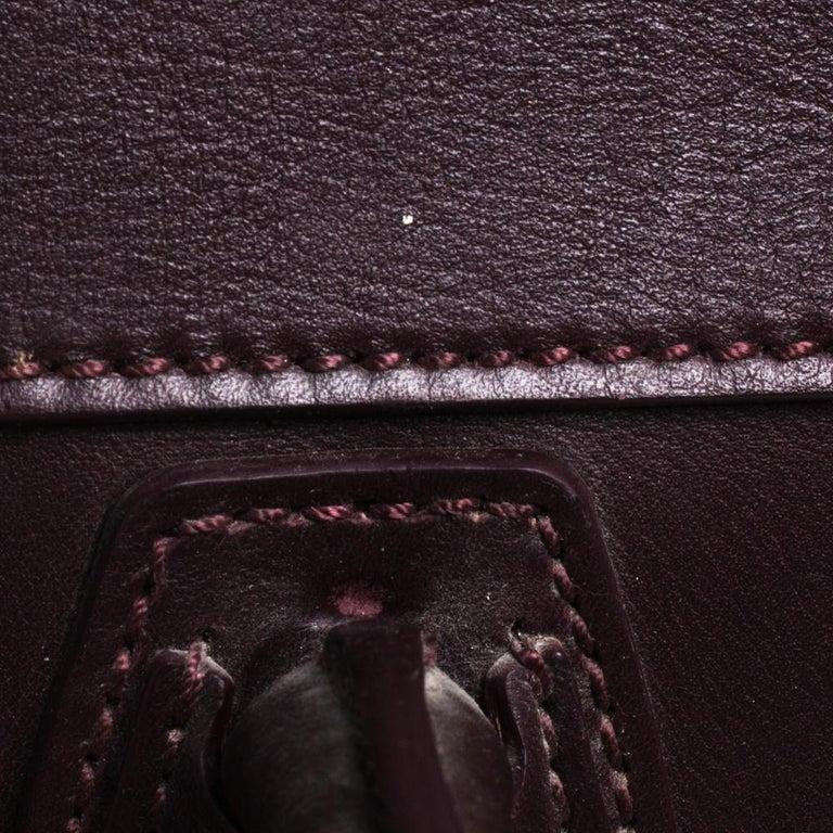 Celine Burgundy Leather Mini Luggage Tote For Sale 1