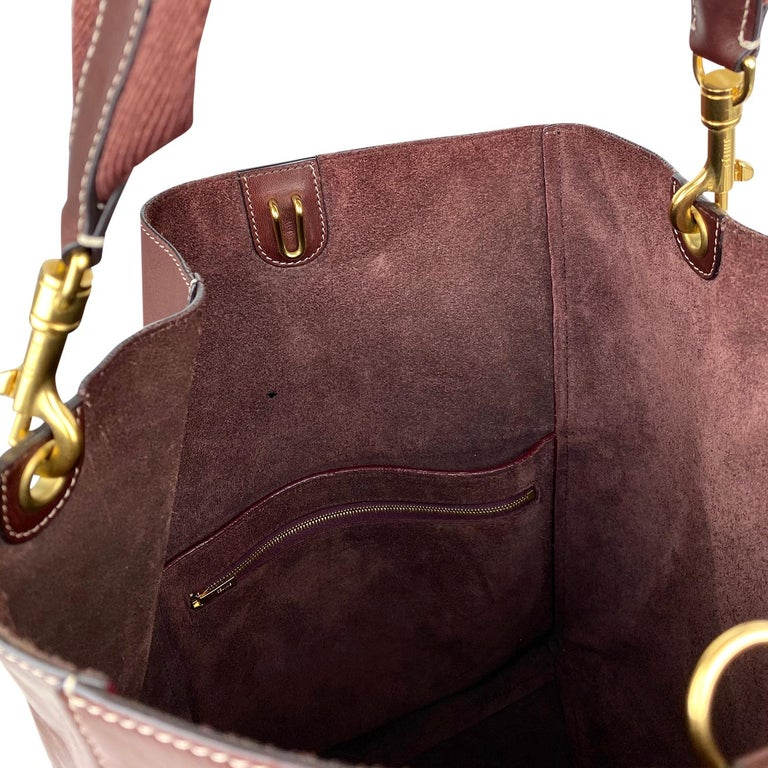 Céline Burgundy Seau Sangle Bag 7