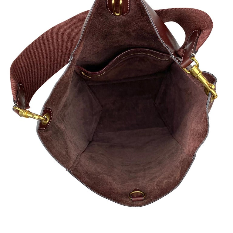 Céline Burgundy Seau Sangle Bag 8