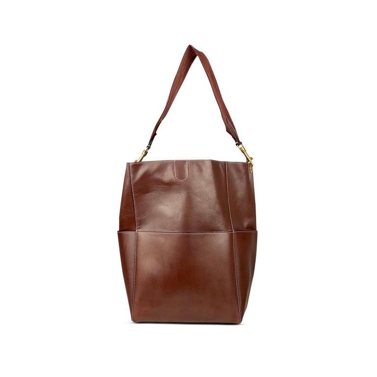 Céline Burgundy Seau Sangle Bag In Good Condition In Sundbyberg, SE