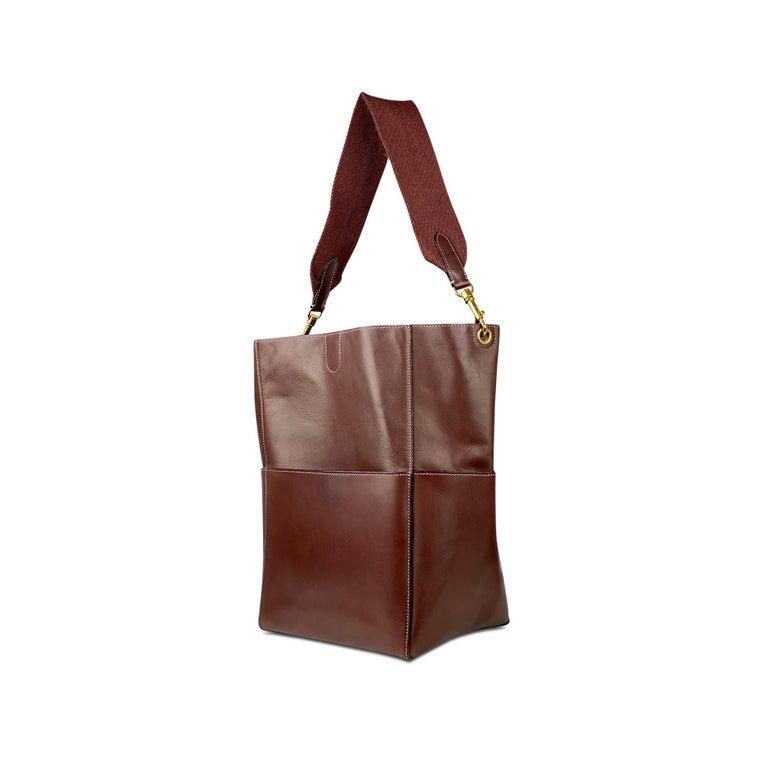 Women's Céline Burgundy Seau Sangle Bag