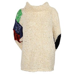 CELINE by PHOEBE PHILO 'BELONG' oversized hand-woven knit sweater