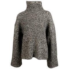 CELINE by PHOEBE PHILO black cashmere turtleneck sweater with underarm cutouts
