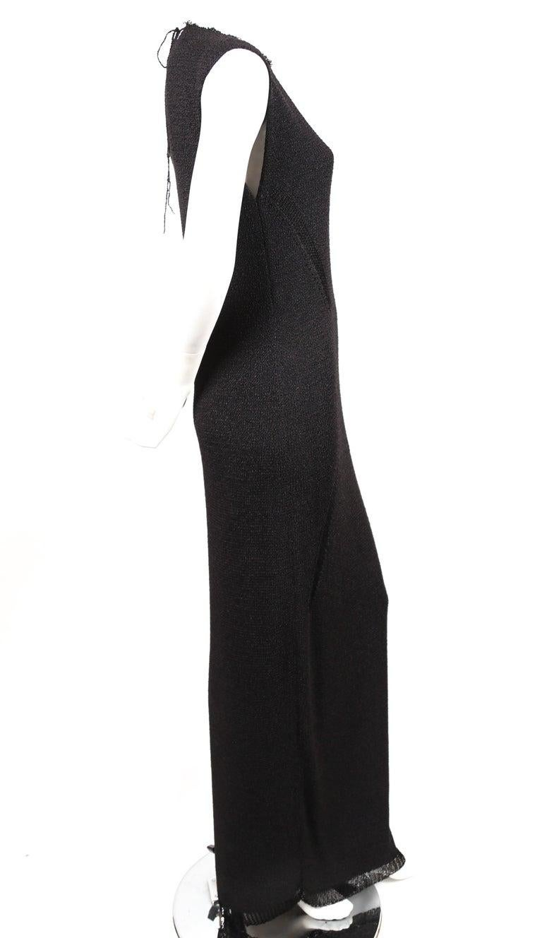 Women's or Men's Celine By Phoebe Philo black knit dress with woven trim - new For Sale