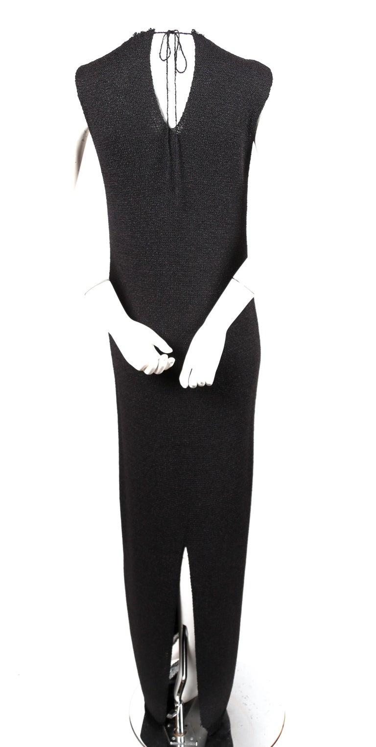 Celine By Phoebe Philo black knit dress with woven trim - new For Sale 1