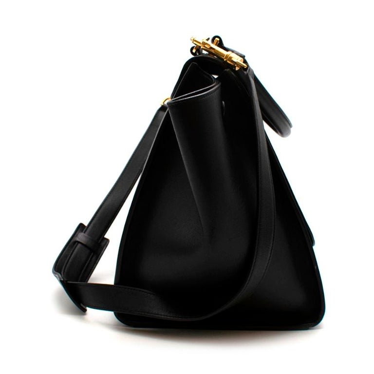 Celine by Phoebe Philo Black Leather Trapeze Bag In Excellent Condition For Sale In London, GB
