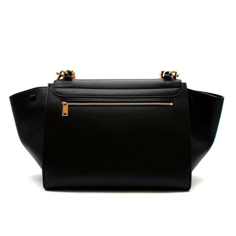 Women's or Men's Celine by Phoebe Philo Black Leather Trapeze Bag For Sale