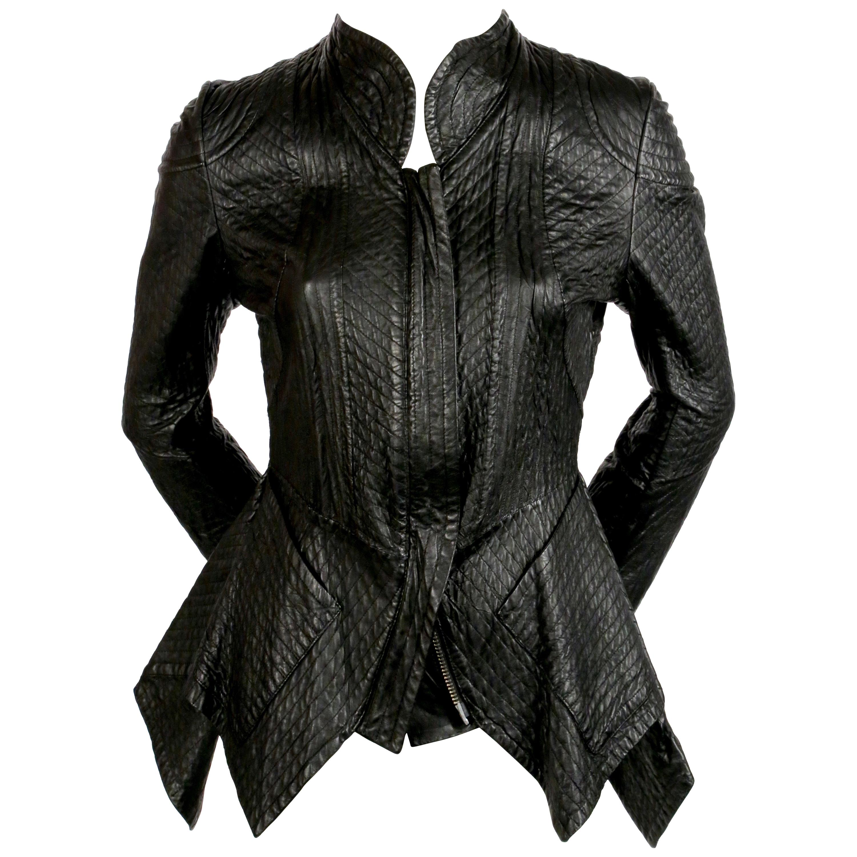 CELINE by PHOEBE PHILO black quilted leather runway jacket - spring 2010