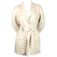CELINE by PHOEBE PHILO cashmere coat with extra long belt - new