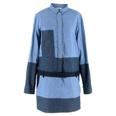 Celine by Phoebe Philo Denim Patchwork Mini Dress M 40